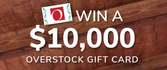 Enter for your chance to win $10,000 in Overstock.com gift cards from HGTV.
