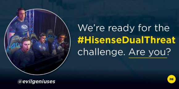Shaw why you deserve to win the #HisenseDualThreat #contest and you could win a trip to Charlotte, North Carolina to meet and greet Erik Jones, Clint Bowyer, and the Evil Geniuses Team and to attend the Monster Energy NASCAR Cup and Xfinity Series races