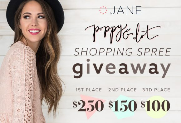 This week Jane.com is teaming up with Poppy and Dot to help you get a jumpstart on your spring wardrobe with a shopping spree. Think being the queen of florals and stripes is up your alley? Then enter ASAP!