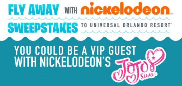 Click Here to enter for your chance to win a trip for 4 to to Universal Orlando Resort in Orlando, Florida to attend the grand opening of Universal's Volcano Bay water theme park with Nickelodeon's JoJo Siwa from Fly Away With Nick Sweepstakes.
