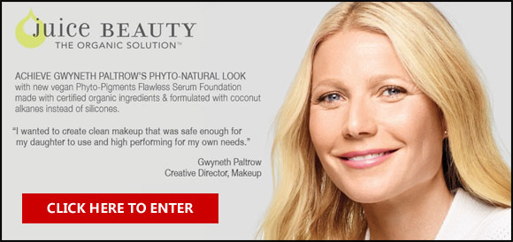 Enter for a chance to win a trip to San Francisco and live like Juice Beauty Creative Director of Makeup, Gwyneth Paltrow for a weekend!