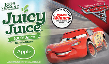 Play the Juicy Juice Race for Juicy Rewards Instant Win Game for the chance to win movie tickets and other prizes. There are over 17 millions prizes to be won. Grab a code from specially marketing Juicy Juice products or send away in the mail for codes. In October you can get free Juicy Juice codes online.