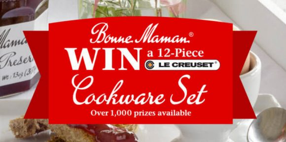 Bonne Maman is giving away over 1,000 prizes including Le Creuset cookware, kitchen tools and Free Bonne Maman preserves.