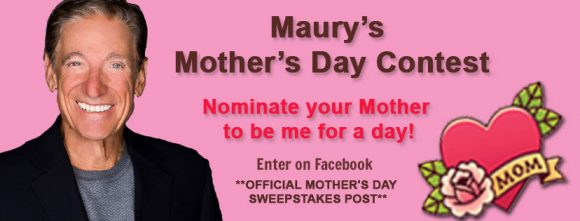 Enter for your chance to win a trip to the The Maury Show and a Free coaching session with Maury for you and a guest