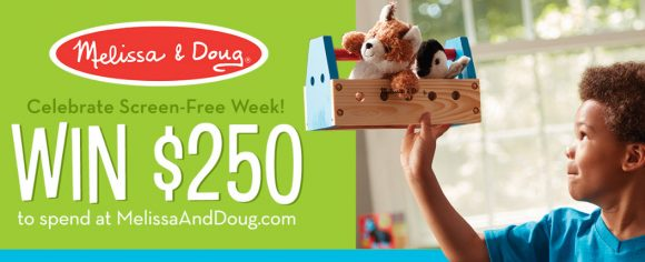 10 Lucky People will win a $250 Melissa & Doug Screen-Free Shopping Spree to Spend at MelissaAndDoug.com!