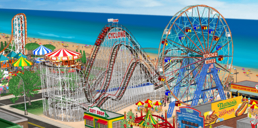 Explore the Nathan's Famous Amusement park, take virtual rides, and experience the excitement and play for your chance to win Nathan's hot dogs for a year, trips, GoPro cameras, picnic blankets, totes, swag bags, speakers and more