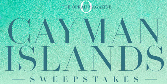 Oprah Magazine Cayman Islands Sweepstakes