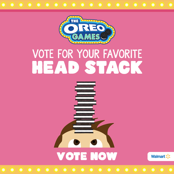 Votoing for your favorite OREO Challenge Head Stack