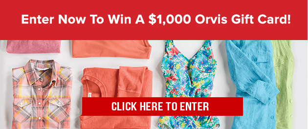 Enter the Orvis Mother's Day Sweepstakes now for a chance to win a $1,000 Orvis Gift Card. It could be the shopping spree of a lifetime! Make it a Mother's Day to remember.