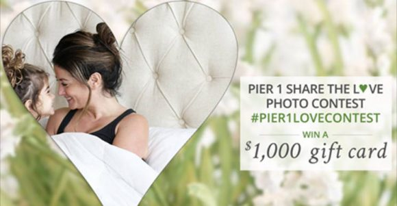 It's back! Enter Pier 1's Share the Love Photo Contest and you could be one of the ten $1,000 Pier 1 gift card winners!