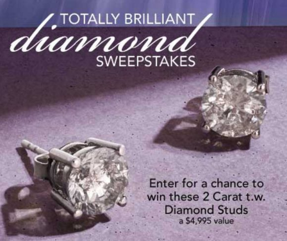 Enter for your chance to win a pair of Diamond stud earrings worth $4,995 from Ross-Simons
