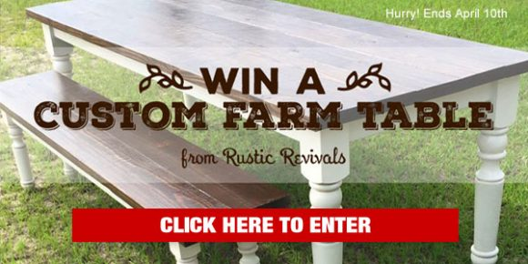 Rustic Revivals Table Giveaway
