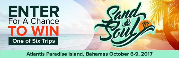 The Steve Harvey Morning Show invites you to join them this October for three days of music, comedy, parties, and more at the Atlantis in the Bahamas over Columbus Day Weekend for the Sand & Soul Festival! Events include a comedy set, concerts, pool parties, a beach BBQ, after parties, and more.