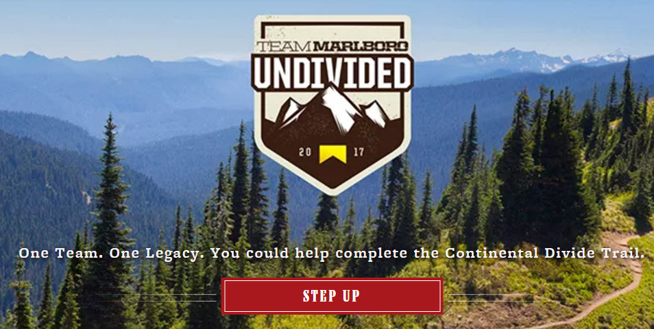 Enter the Team Marlboro Undivided Contest for a spot on the continental divide trip and get your Free Aluminum water bottle just for entering.