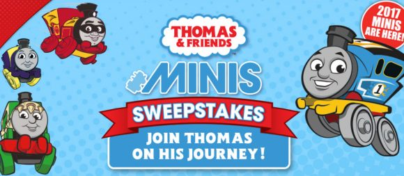 Enter for your chance to win Thomas & Friends merchandise and toys worth over $3,000! One Grand Prize winner will receive party favors for five of his/her friends, $1,500 worth of Thomas & Friends Merchandise and Toys, $200 Part City gift card, $1,250 cash, and 12 MINIS Party Favor Packs. The new 2017 MINIS are here! Submit a photo of your kid with their MINIS collection to enter to win!
