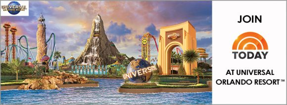 Enter the The Today Show's Dive Into Summer Sweepstakes for your chance to win a trip of a lifetime to Universal Orlando Resort, where you'll attend the Grand Opening of Universal's Volcano Bay water theme park and be a part of TODAY's live audience in Orlando on May 25th!