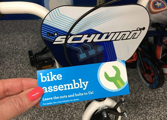 ToysRUs Kids Bike Assembly Fee