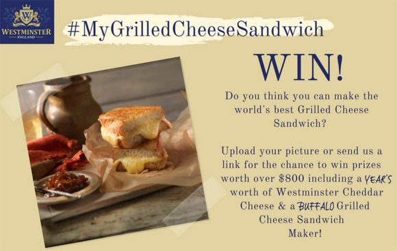 Westminster English Cheddar Grilled Cheese Sandwich Competition