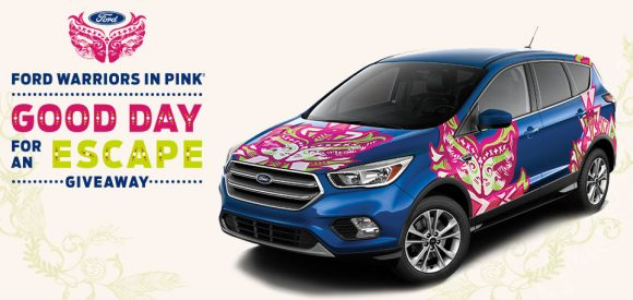 One lucky winner will drive off in a 2017 Ford Escape. Ford is giving away a 2017 Ford Escape to help one lucky winner drive home many good days. Enter now for your chance to win.