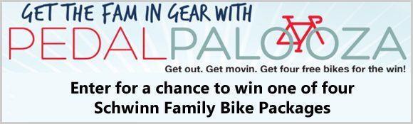 Enter for a chance to win one of four Schwinn Family Bike Packages or one of 220 other prizes in the Land O'Frost PedalPalooza Sweepstakes