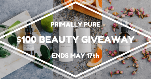 Click Here for your chance to win a $100 Primally Pure Gift Certificate from Paleo Epic. Primally Pure Skin Care sells 100% natural and toxin-free products that support radiant skin, a healthy body and a happy self.