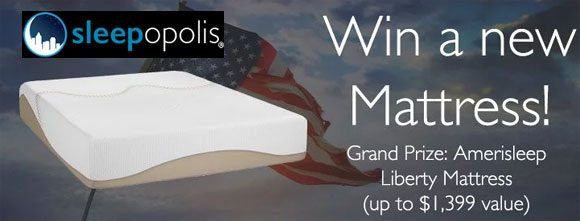 Click Here for your chance to win an Amerisleep Liberty Mattress worth $1399 from Sleepopolis