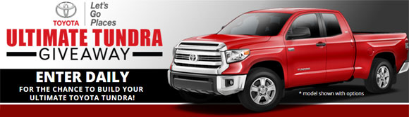 Enter daily for your chance to win a 2017 Toyota Tundra truck worth over $44,000 from Bassmaster