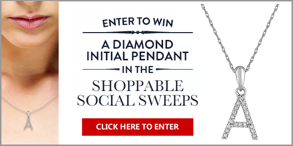 Click Here for your chance to win Diamond Initial Pendant with a value of $295 from Bailey Banks & Biddle. Bailey Banks & Biddle celebrates the launch of social shopping on Instagram with their Social Shopping Sweepstakes by giving you the chance to enter to win a Diamond Initial Pendant. Choose which letter you want if you are the winner!