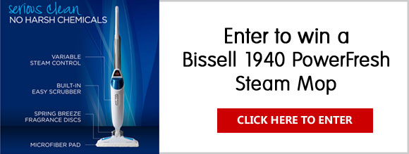 Click Here for your chance to win a Bissell 1940 PowerFresh Steam Mop Hard Floor Steam Cleaner