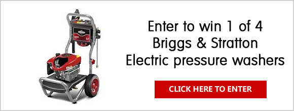 Enter for your chance to win an Briggs & Stratton Electric pressure washer