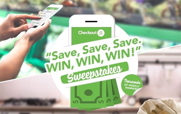 Get ready to Save, Save, Save! Win, Win, Win! with Checkout 51's biggest CASH Sweepstakes ever!