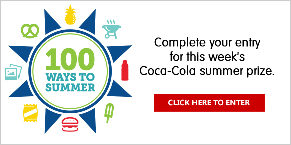 Complete your entry for this week's Coca-Cola summer prize. Take a close-up, clear picture of your receipt with your smartphone or a digital camera, saving it to your phone's photo album or on your computer. Alternative entry by mail. Weekly Drawings.