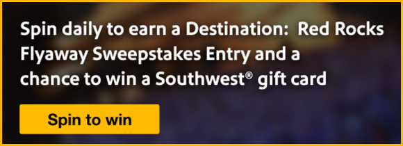Enter for a chance for you and three friends to win a trip to Denver to enjoy the Destination: Red Rocks show! Every day Southwest Airlines is giving away $1,000 in prizes!