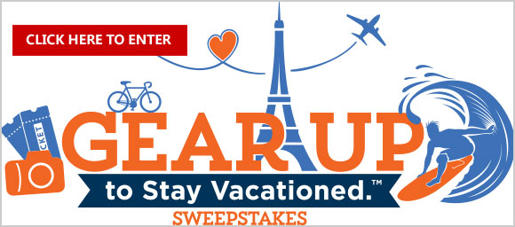 You could win a Dream Vacation for 4 with Airfare and weekly gear including a GoPro camera, drone, smart watch, golf clubs, hiking boos luggage, Bose headphones, backpacks, tablets and lots more. Click Here for your chance to win