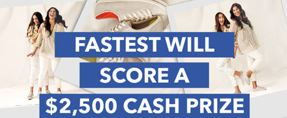 If you like shoes and shopping at DSW, this Quikly is for you. Be the fastest to respond and you win a $2,500 cash prize. Everyone gets a DSW discount coupon and 51 other winners will win a free pair of Keds Champion shoes and a DSW coupon