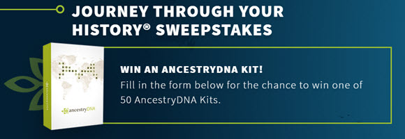 Select where you think your ancestors are from for the chance to win one of 50 FREE Ancestry.com DNA Kits.