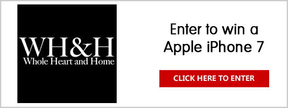 Click Here for your chance to win an Apple iPhone 7 from Whole Heart & Home. iPhone 7 now has the best performance and battery life ever, as well as new finishes, water resistance, and stereo speakers.