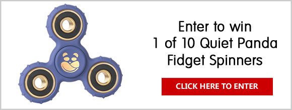 Click Here for your chance to win one of 10 fidget spinners from Quiet Panda.