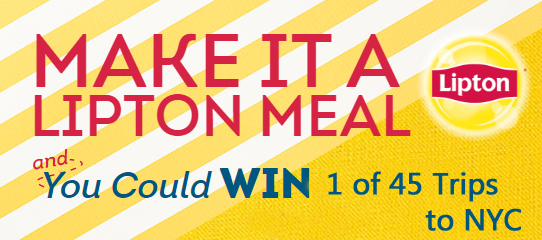 Enter for a chance to win a unique Food Network Star experience with Bobby Flay in NYC in the Lipton Summer Sweepstakes