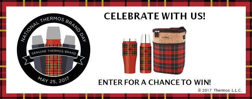 Celebrate National Thermos Brand Day with a giveaway and your chance to win one of 10 Thermos Brand prize packs
