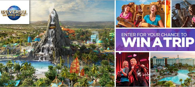 Enter for your chance to win a trip for 4 to Universal Orlando Resort in Orlando, Florida
