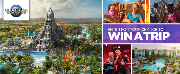 Win a Trip To Experience Volcano Bay at Universal Orlando Resort from Oxygen TV. Take your vacation to the next level at Universal Orlando Resort's three amazing theme parks. Immerse yourself in the next generation of blockbuster entertainment at Universal Studios Florida