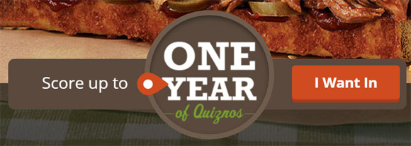 Quikly is celebrating the launch of Quiznos new slow-roasted pulled pork subs by giving away a YEAR of Quiznos + thousands of other exclusive offers. This is the perfect opportunity to test your speed skills.