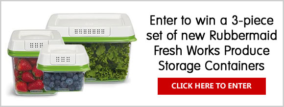 Click Here for your chance to win a 3-piece set of new Rubbermaid Fresh Works Produce Storage Containers