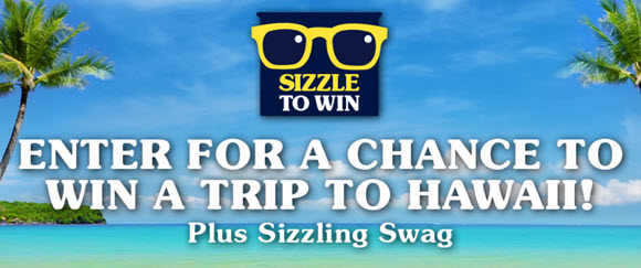 It's SPAM Sizzle To Win sweepstakes and they're giving away six trips to Oahu, Hawaii along with over a thousand exclusive SPAM swag items. One trip per month and fifty swag items per week through October 2017. Keep sizzling for a chance to keep winning!