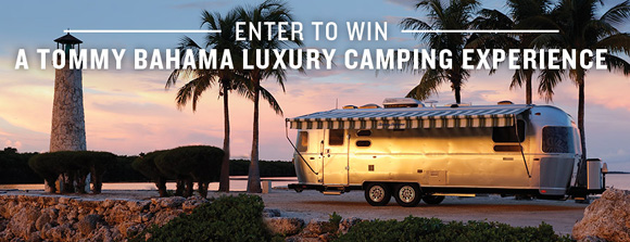 You and a guest could enjoy five days of luxury in a Tommy Bahama Special Edition Airstream Travel Trailer!