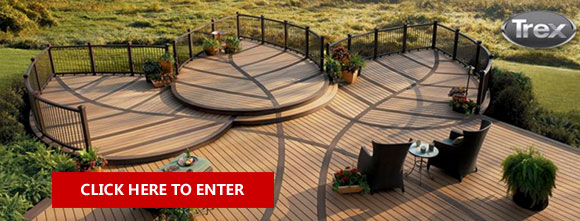 Visit Trex.com to design your dream deck and then enter for your chance to win $10,000 in Trex materials to make it happen