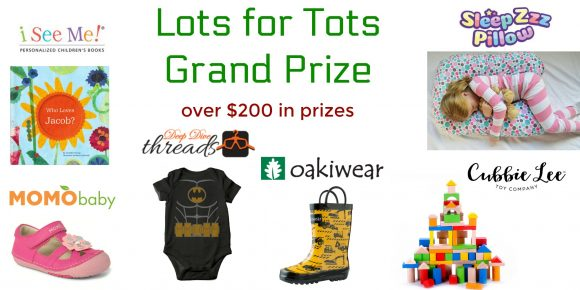 Click Here for your chance to win a Lots for Tots Grand Prize that includes over $200 in prizes from Mamathefox.com