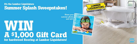 CLICK HERE to enter to win a $1,000 Lumber Liquidators Gift Card