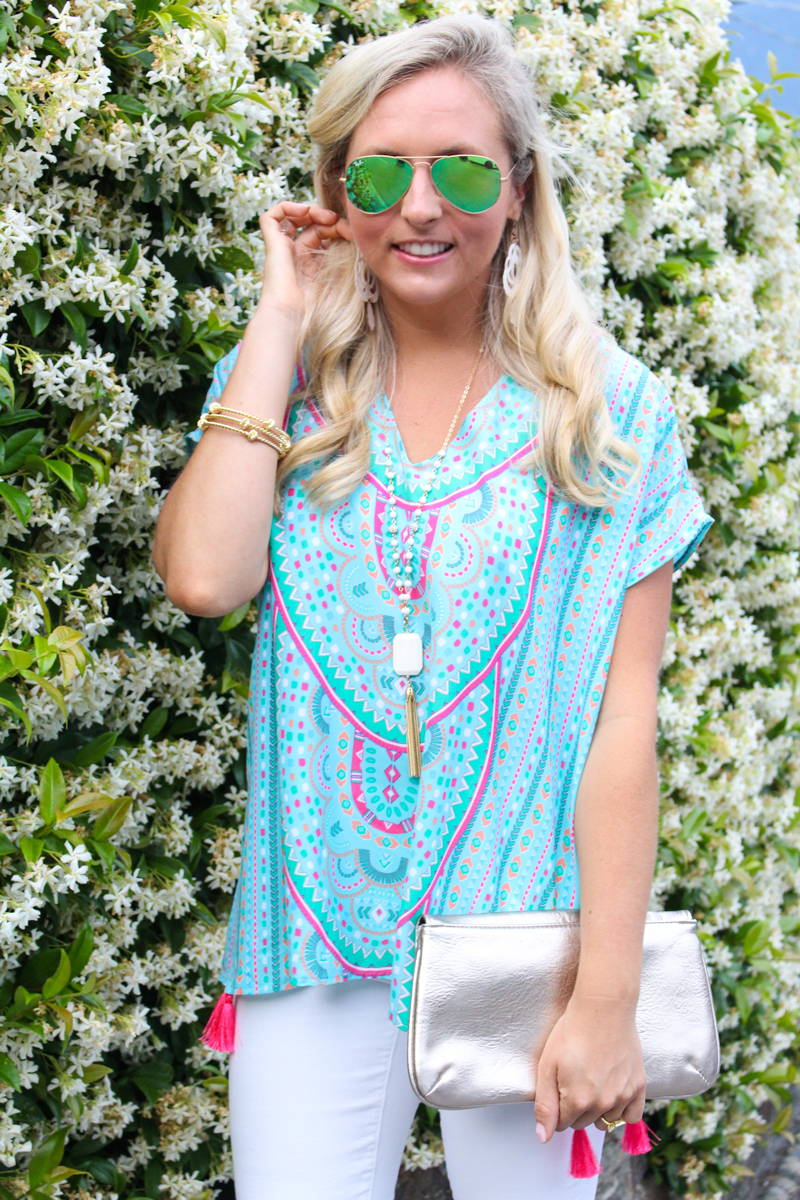 Click Here for your chance to win this amazing Britt Ryan women's silk tunic with tassels valued at $194 Drape yourself in this beloved boho style caftan top this season.